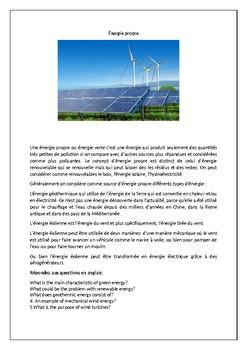 Énergie propre / L'environnement / Clean energy / Renewable energy / Environment