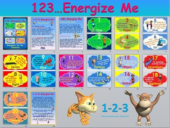 Energize Me Bundle-  Alphabet, Numbers, Shapes, Animals, Colors and Sports