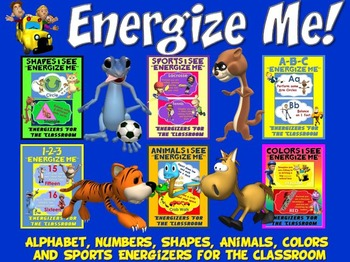 Energize Me Bundle-  Alphabet, Numbers, Shapes, Animals, C