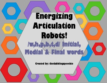 Energizing Robots Articulation Game- /w,h,p,b,t,d/