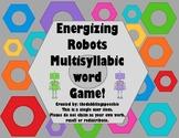 Energizing Robots Multisyllabic Words Game FREEBIE