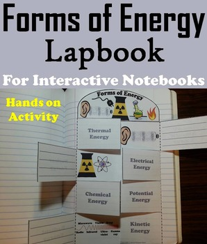 Forms of Energy Foldable: Sound and Light, Thermal, etc