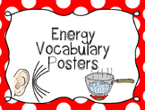 Energy Vocabulary Posters {Energy Posters, Word Wall Printable}