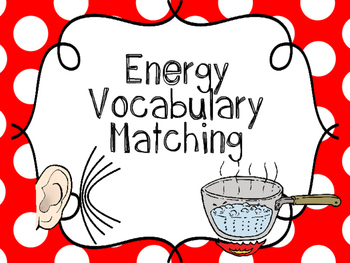 Energy Vocabulary {Flash Cards, Memory or Matching Cards}