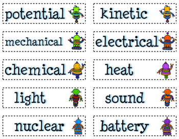 Energy: 5 Literacy Stations combining Science and Literacy for Big Kids