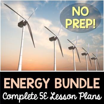 Energy 5E Lesson Plans Bundle - Complete Lesson Plans