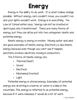 Kinetic and Potential Energy - A Hands-on Lab Based Unit