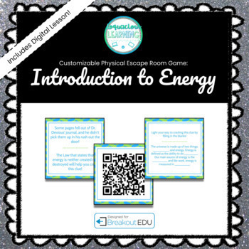 Intro to Energy (Dr. Devious Returns!) Customizable Escape Room / Breakout Game