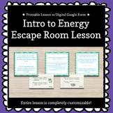 Intro to Energy (Dr. Devious Returns!) Customizable Escape