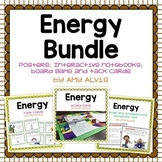 Energy Bundle Posters Interactive Notebook INB Task Cards Game