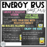 Energy Bus Posters (Chalkboard & Brights)