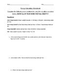 Energy Calculation Worksheet