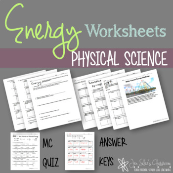 Energy Calculations Worksheets