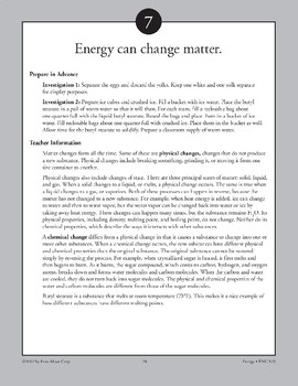 Energy Can Change Matter