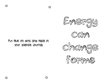 Energy Can Change forms