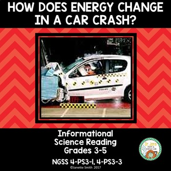 Energy Change in a Car Crash:  Informational Reading