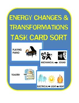 Energy Changes Transformations Task Card Sort