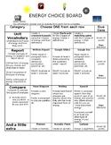 Energy Choice Board (EDITABLE)