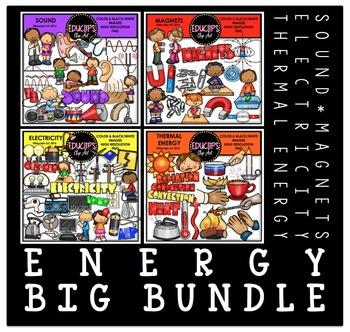 Energy Clip Art Big Bundle  {Educlips Clipart}