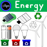 Energy Clip Art LED Light Bulb Battery Solar Panel Windmill Recycle Efficiency