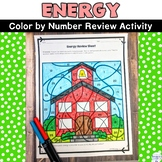 Energy Color by Number Review Activity for Potential Kinetic and Forms