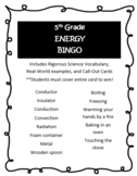 Energy: Conservation and Transfer BINGO