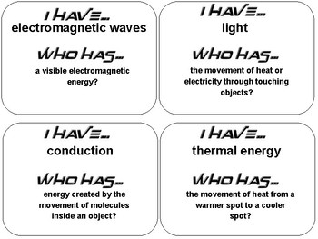 Energy: Conservation and Transfer Vocabulary Review Pack