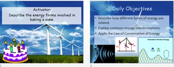 5.3 Energy Conservation and Transformations PowerPoint and Guided Notes
