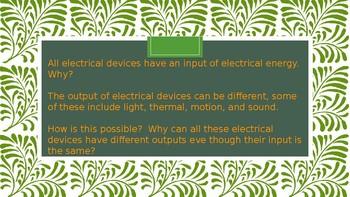 Energy Conversion Lesson 2.1