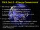 Energy Conversions