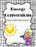 Energy Conversions Color-Coded Word Search