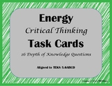 Energy Critical Thinking Task Cards