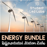 Energy - Differentiated Science Station Labs Bundle - 10 Student Led Labs