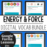 Energy Digital Vocabulary Bundle | Distance Learning