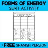 Interactive Sorting - Energy Activity
