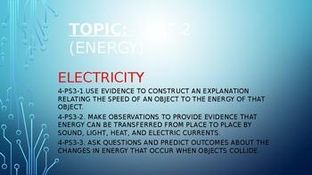 Energy (Electricity, Electric Motors, Speed & Energy)