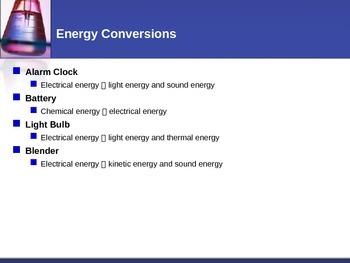 Energy - Energy Conversions