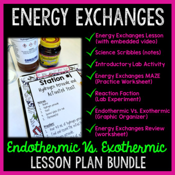 Energy Exchanges: Endothermic and Exothermic Reactions Lesson Plan Bundle