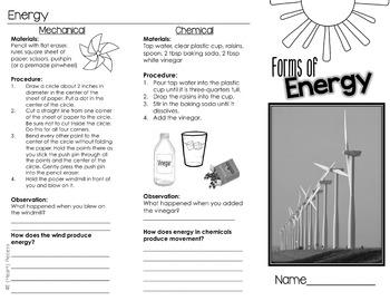 Energy Experiments