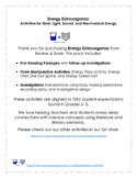 Energy Extravaganza:  Activities for Heat, Light, Sound, and Mechanical Energy