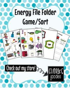 Energy File Folder Game (Heat/Thermal, Light, Sound)