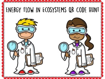 Energy Flow in Ecosystems QR Code Hunt (Content Review or Notebook Quiz)