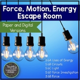 Energy, Force, and Circuit Digital and Paper Science Escape Room