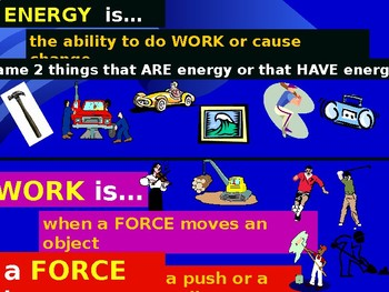 Energy, Forces, & Motion: Energy PPT Notes 6th gr Science