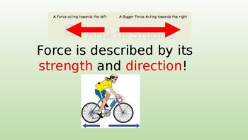 Energy, Forces, & Motion: Forces PPT Notes & CARD SORT 6th gr Science