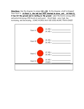 BUNDLE: Energy, Forces, and Motion Review Sheets and Quizzes Based on NGSS