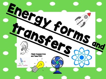 Energy Forms:: Light, Heat, Thermal, Sound, Electricity, Mechanical