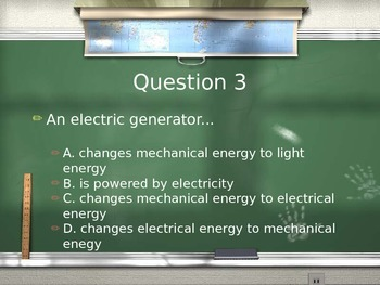 Energy Forms and Changes Review