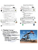 Energy Cloze Notes and PowerPoint