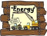 Energy- Forms of energy minibook plus activity and vocabulary foldable